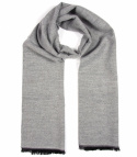 Men's Warm Gray Scarf - Viscose / Acrylic (1)
