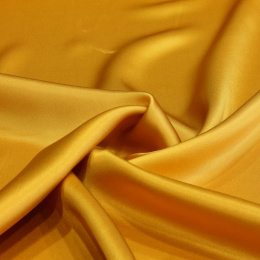 Golden silk satin scarf, 70x70cm
