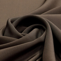 Dark Brown Crepe Silk Scarf, 170x45cm
