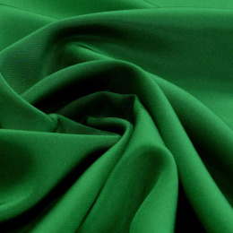 Grass-green Silk Crepe Scarf, 220x65cm