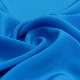 The azure-blue Crepe Silk Scarf, 55x55cm