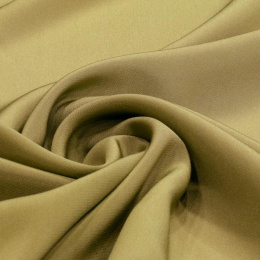 Olive Crepe Silk Scarf, 55x55cm