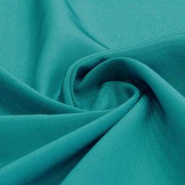 Turquoise Crepe Silk Scarf, 55x55cm