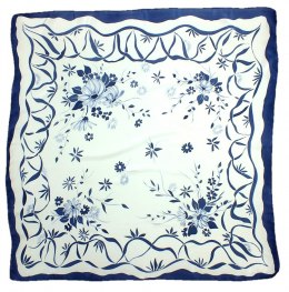AM-173 Hand-painted Silk Scarf