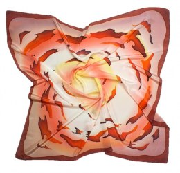 AM-175 Hand-painted silk scarf, 90x90cm