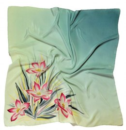 AM-198 Hand-painted Silk Scarf