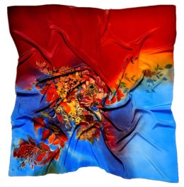 AM-197 Hand-painted Silk Scarf