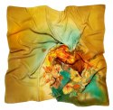 AM-200 Hand-painted silk scarf, 90x90cm (1)