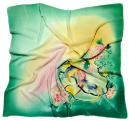 AM7-206 Hand-painted silk scarf, 70x70 cm