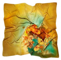 AM7-200 Hand-painted silk scarf, 70x70 cm