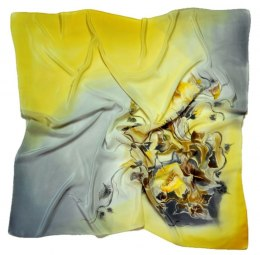 AM7-201 Hand-painted silk scarf, 70x70 cm