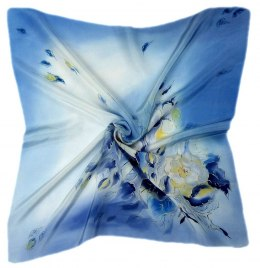 AM-518 Hand-painted silk scarf, 55x55 cm