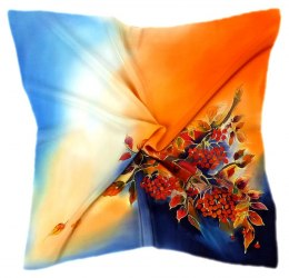 AM-521 Hand-painted silk scarf, 55x55 cm
