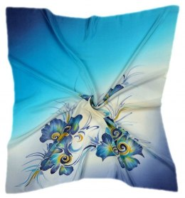 AM-156 Hand-painted Silk Scarf