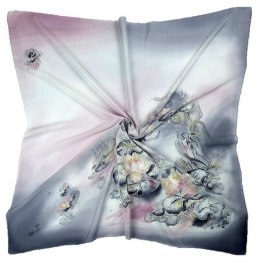 AM-213 Hand-painted Silk Scarf