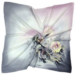 AM-214 Hand-painted Silk Scarf