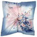 AM-216 Hand-painted silk scarf, 90x90cm (1)