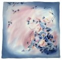 AM-216 Hand-painted silk scarf, 90x90cm (2)