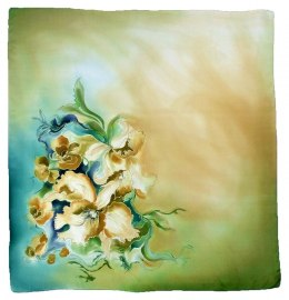 AM-218 Hand-painted Silk Scarf