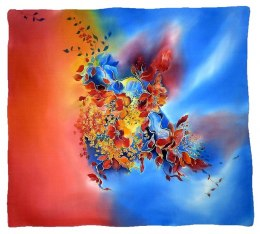 AM-225 Hand-painted Silk Scarf