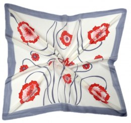 AM-229 Hand-painted silk scarf, 90x90cm