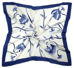 AM-230 Hand-painted silk scarf, 90x90cm