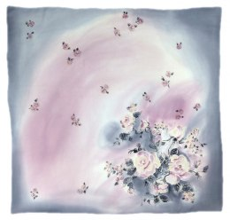 AM-233 Hand-painted Silk Scarf
