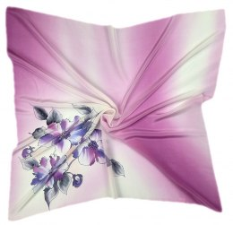 AM-239 Hand-painted silk scarf, 90x90cm