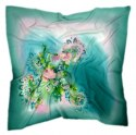 AM-246 Hand-painted silk scarf, 90x90cm (1)
