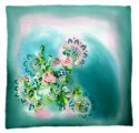 AM-246 Hand-painted silk scarf, 90x90cm (2)