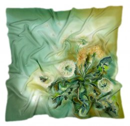 AM-247 Silk Shawl Hand-Painted