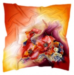 AM-248 Hand-painted Silk Scarf
