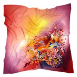 AM-250 Hand-painted Silk Scarf