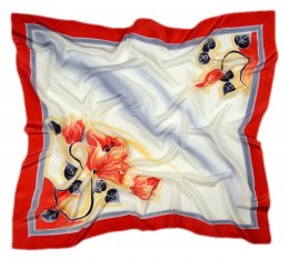 AM-252 Hand-painted silk scarf, 90x90cm