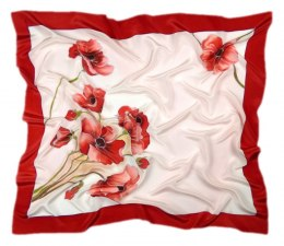 AM-253 Hand-painted silk scarf, 90x90cm