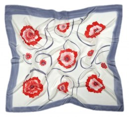 AM-259 Hand-painted silk scarf, 90x90cm