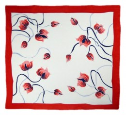 AM-267 Hand-painted silk scarf, 90x90cm