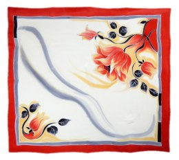 AM-268 Hand-painted silk scarf, 90x90cm