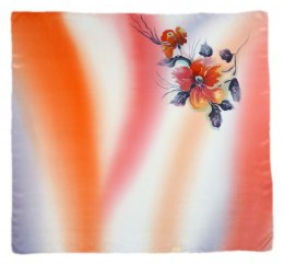 AM-281 Hand-painted silk scarf, 90x90cm