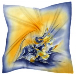 AM-523 Hand-painted silk scarf, 55x55 cm