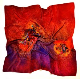 AM-196 Hand-painted Silk Scarf