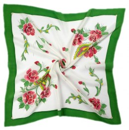 AM7-208 Hand-painted silk scarf, 70x70 cm