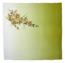 AM-295 Hand-painted silk scarf, 90x90cm