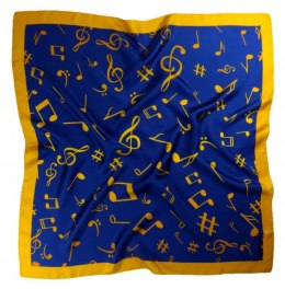 AN-006 Large Silk Scarf with Sheet Music, 85x85 cm