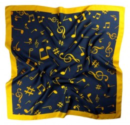AN-009 Large Silk Scarf with Sheet Music, 85x85 cm