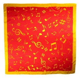 AN-015 Large Silk Scarf with Sheet Music, 85x85 cm