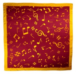 AN-016 Large Silk Scarf with Sheet Music, 85x85 cm