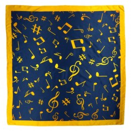 AN-025 Large Silk Scarf with Sheet Music, 85x85 cm