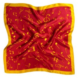 AN5-006 Small silk scarf with sheet music, 55x55 cm