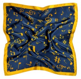 AN5-008 Small silk scarf with sheet music, 55x55 cm